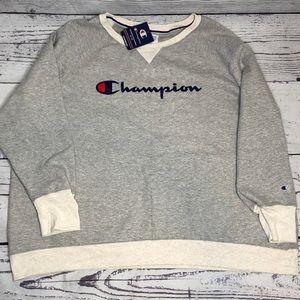 Womens Champion Grey Pullover